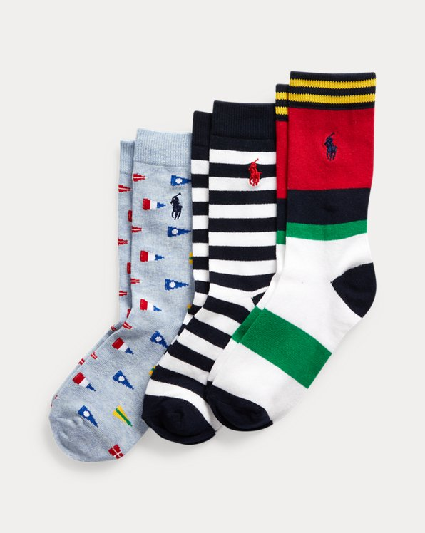 Graphic Crew Sock 3-Pack