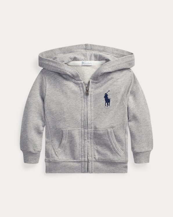 New Baby Boys Ralph Lauren Cotton Fleece Hoodie 9 Months
