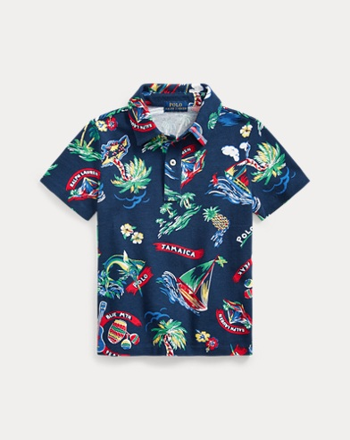 Tropical Cotton Mesh Polo