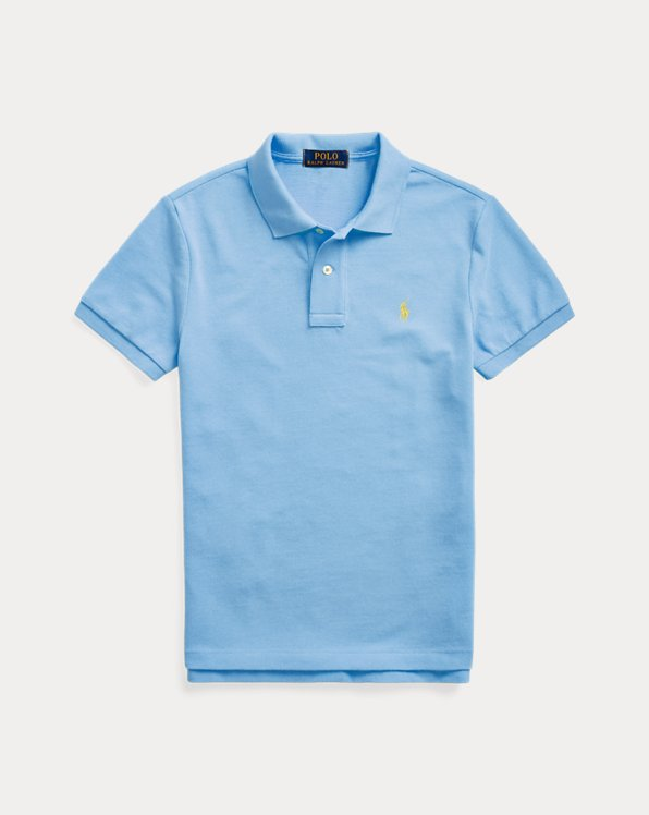 Slim Fit Cotton Mesh Polo