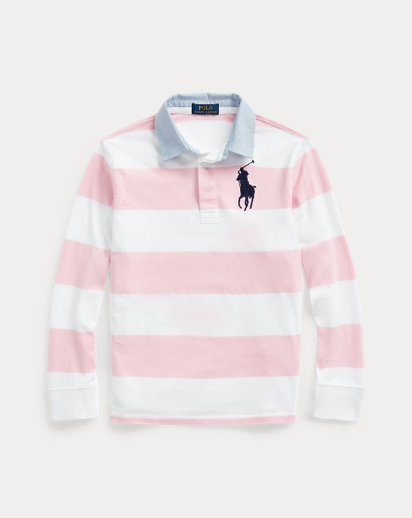 Big Pony Striped Cotton Rugby