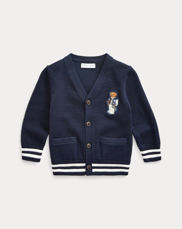 Preppy Bear Cotton Cardigan