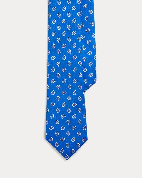 Cravatta in seta motivo geometrico