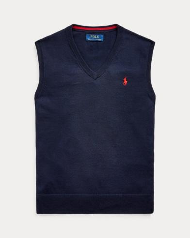 Cotton V-Neck Jumper Vest