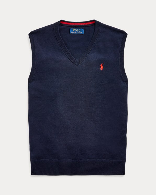 Cotton V-Neck Jumper Vest