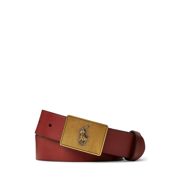 폴로 랄프로렌 보이즈 벨트 Polo Ralph Lauren PRL Leather-Trim Cotton Belt,Brown