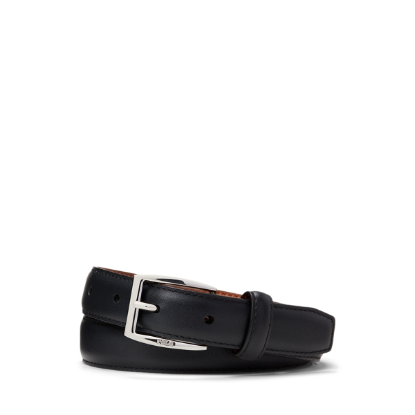 폴로 랄프로렌 보이즈 벨트 Polo Ralph Lauren Calfskin Leather Belt,Black