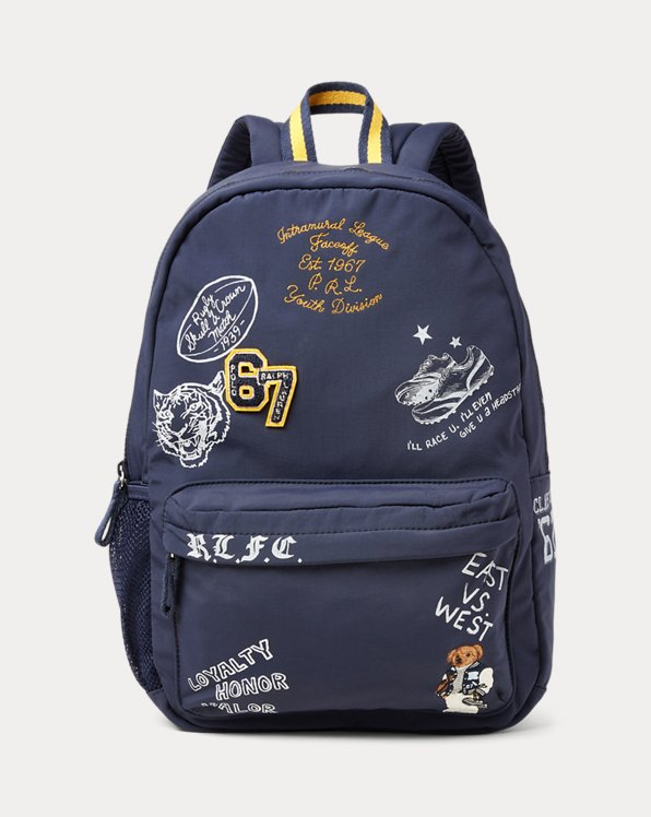 Letterman Bear Large Backpack