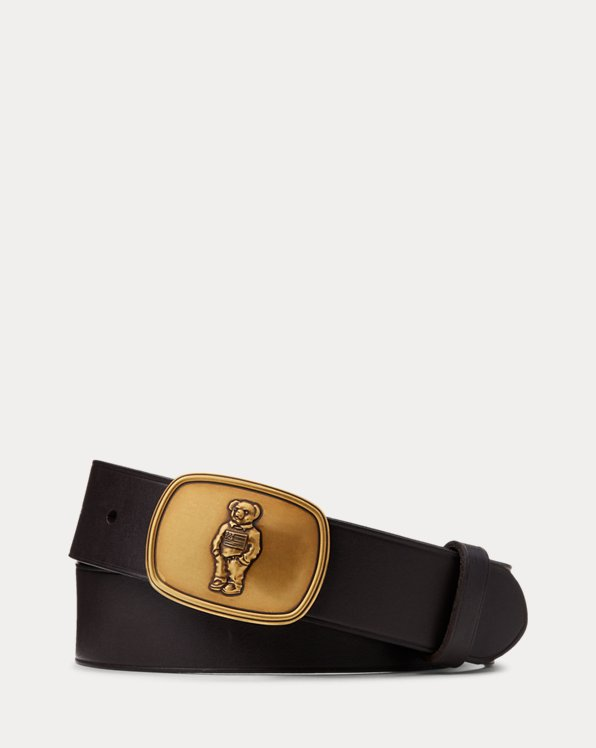 Polo Bear Leather Belt