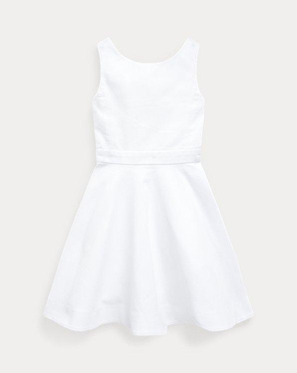 Crossback Stretch Cotton Dress