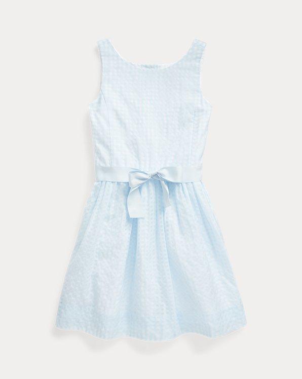 Vestido de mezcla de algodón a cuadros