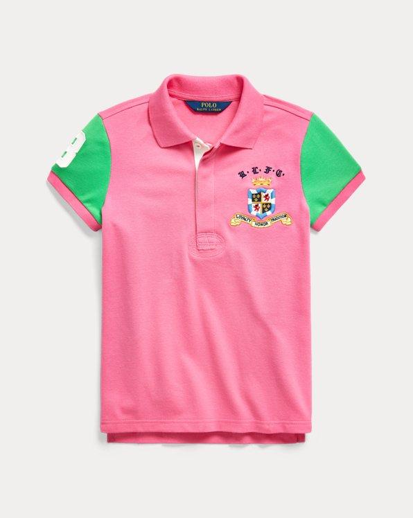 Pieced Stretch Mesh Polo Shirt