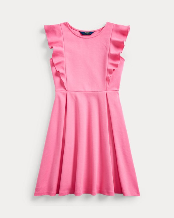 Ruffled Stretch Ponte Dress