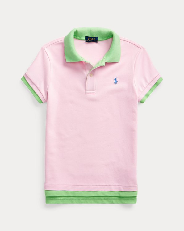 Layered Stretch Mesh Polo