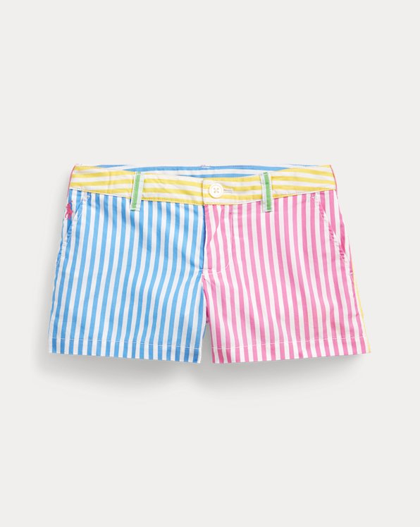 Striped Cotton Poplin Short