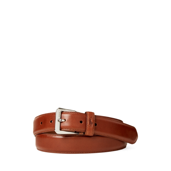 폴로 랄프로렌 Polo Ralph Lauren Smooth Calfskin Belt,Brown
