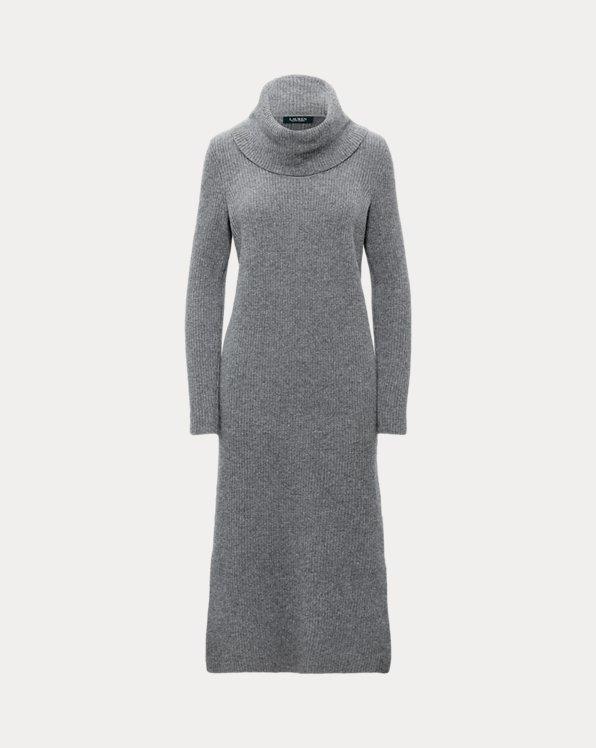 Wool-Cashmere Roll Neck Dress