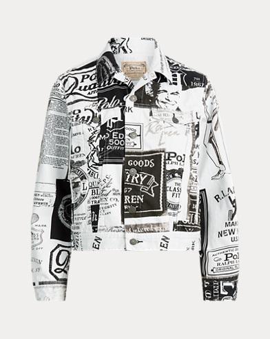 Graphic-Print Denim Jacket