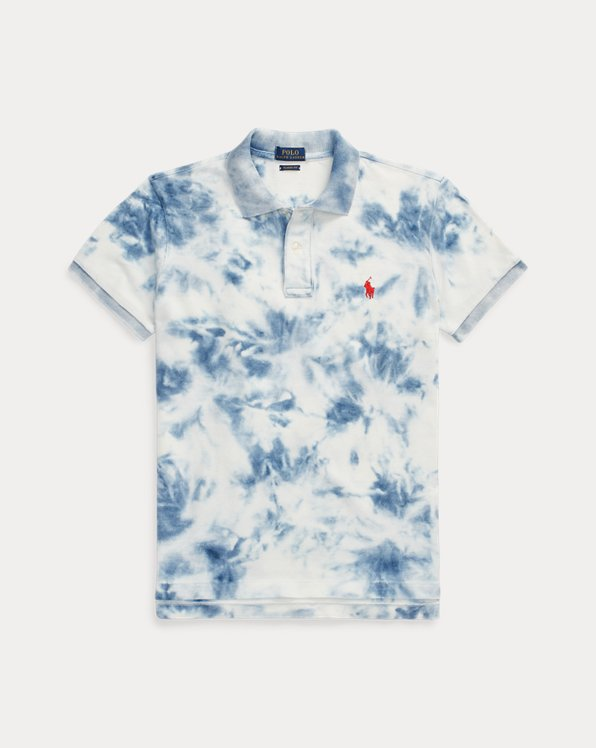 Polo indaco tie-dye