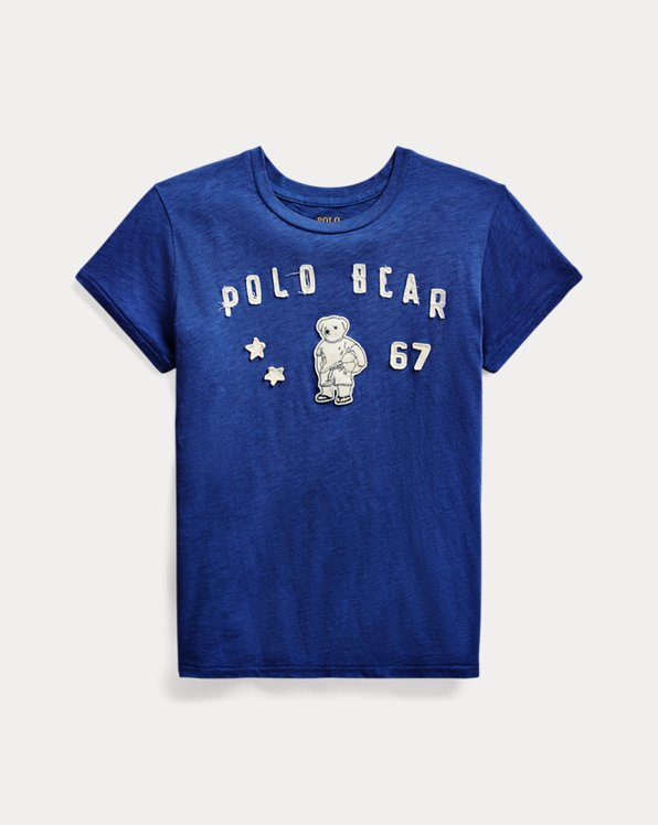 Jersey-T-Shirt mit Polo Bear