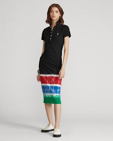 Tie-Dye Polo Shirt Dress
