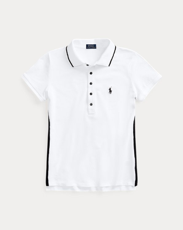 Beaded-Trim Polo Shirt