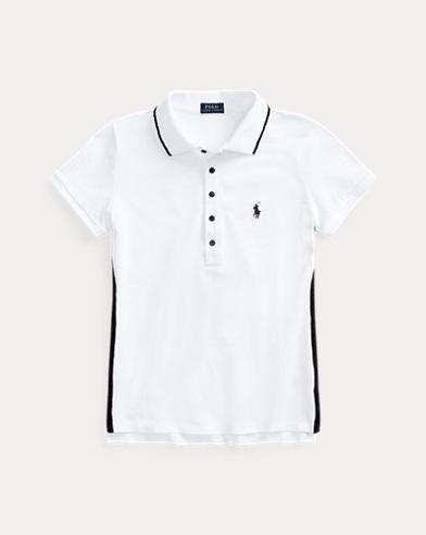 Beaded-Trim Polo Shirt