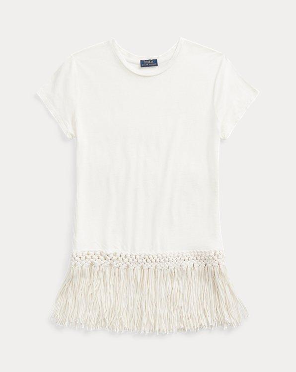 T-shirt avec ourlet à franges