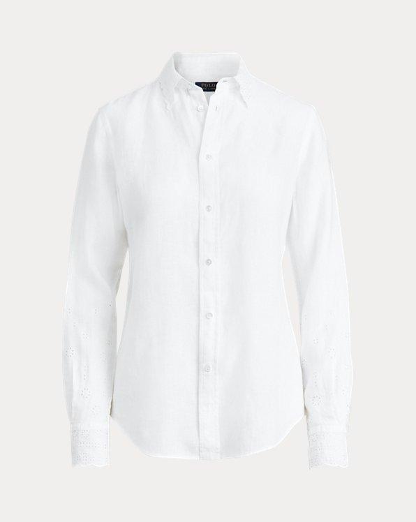 Eyelet Linen Shirt