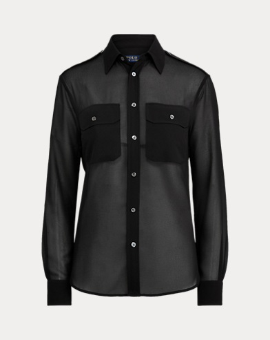 Georgette Military Shirt