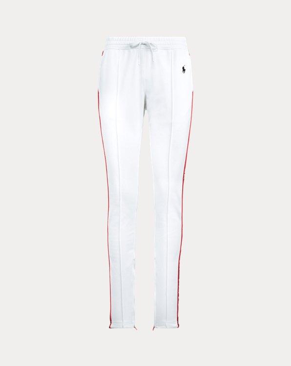 Striped-Trim Fleece Tracksuit Trouser
