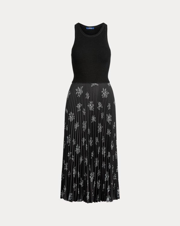 Ärmelloses Kleid mit Falten