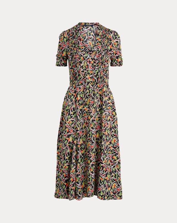 Kurzärmliges Kleid mit Blumenmuster