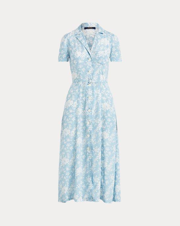 Floral Crepe Midi Dress