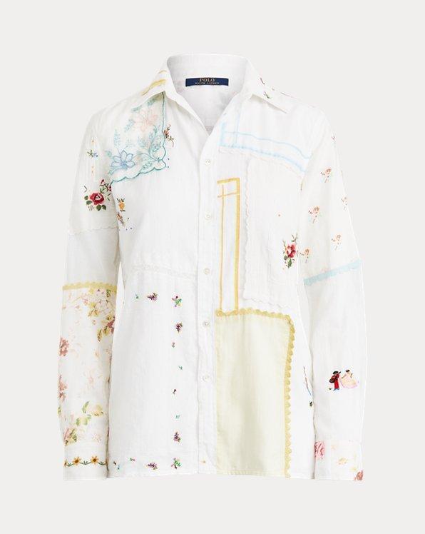 Cotton Voile Patchwork Shirt