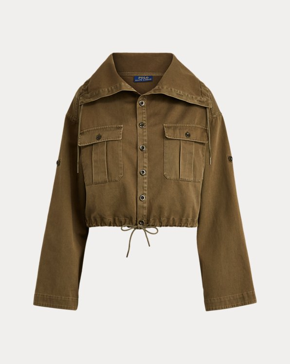 Drawcord Cotton Twill Jacket