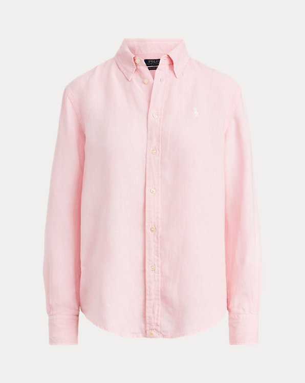 Camicia button-down in lino