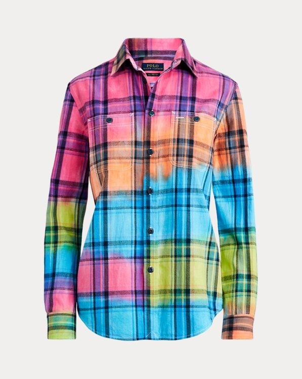 Camicia in madras di cotone