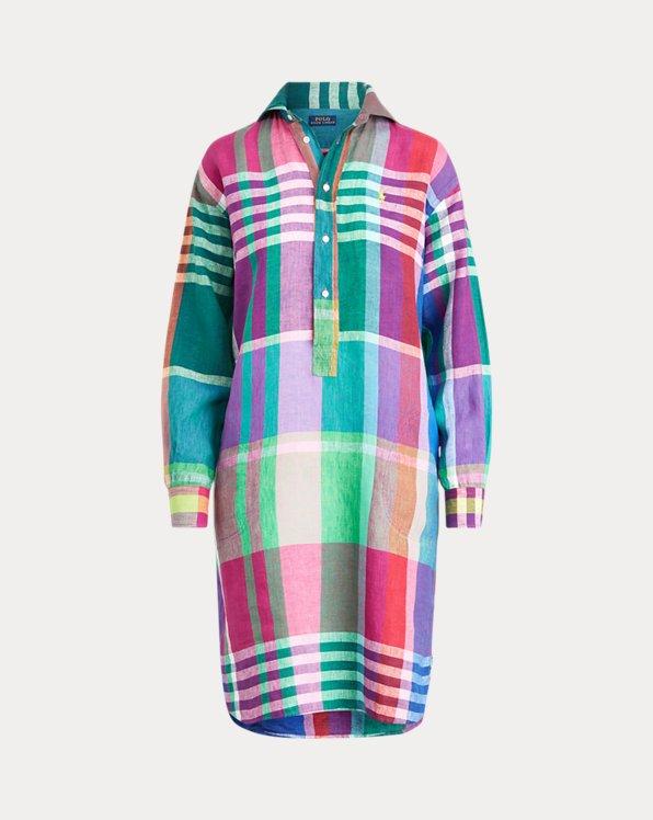 Linen Madras Dress