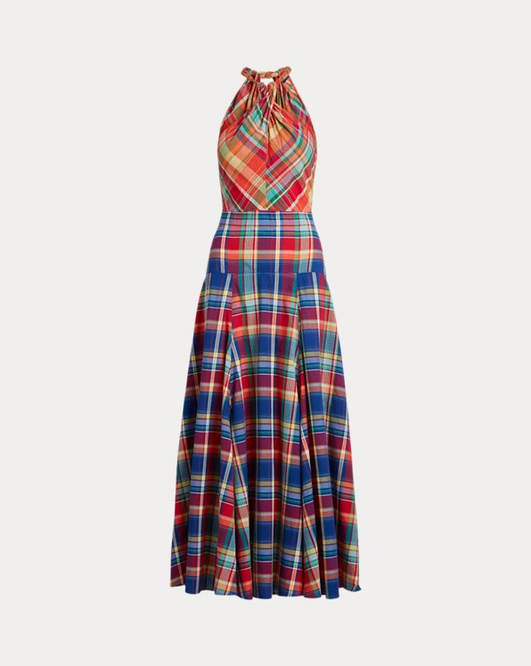 Madras Halter Maxidress