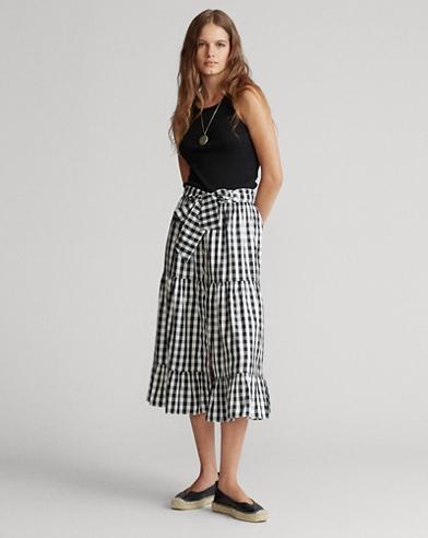 Tiered Silk Skirt