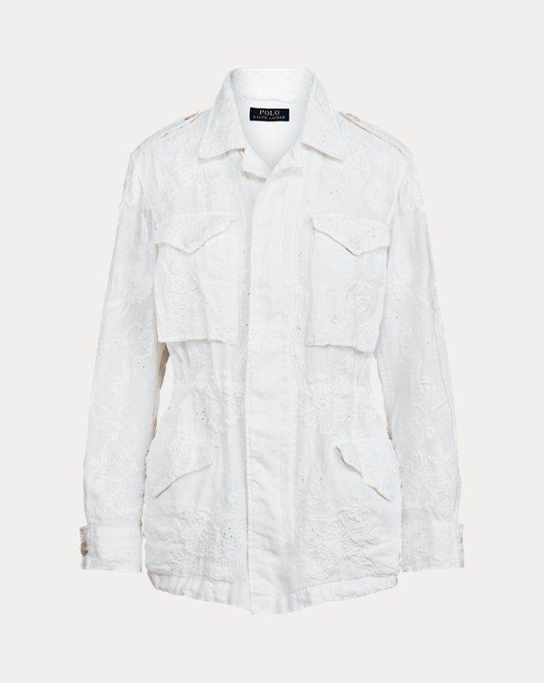 Eyelet Linen Jacket