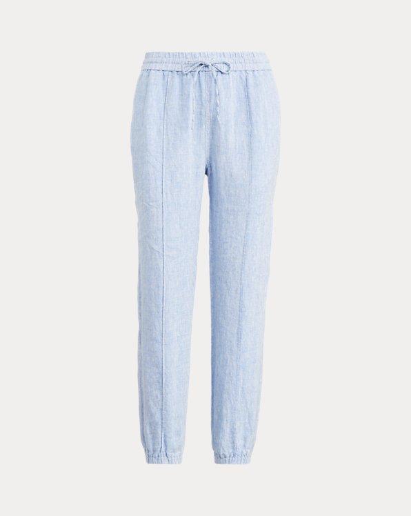 Pantalon de jogging en lin
