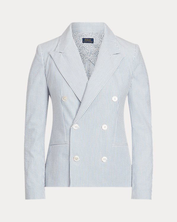Cotton Seersucker Blazer