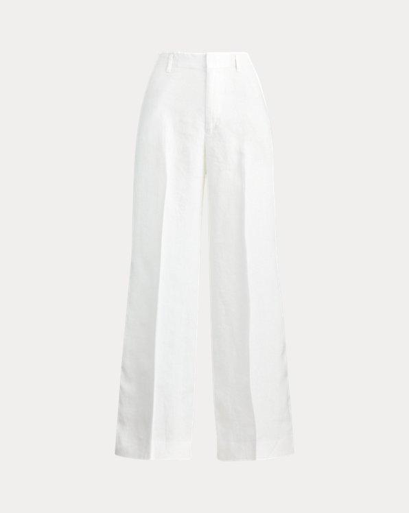 Pantalon à jambe large en lin