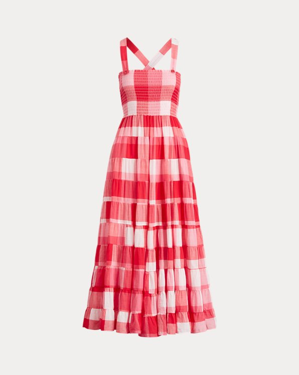Plaid Cotton Maxidress