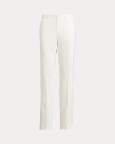 Satin Straight-Leg Pant