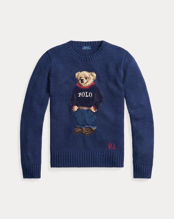 Pull Polo Bear en coton mélangé