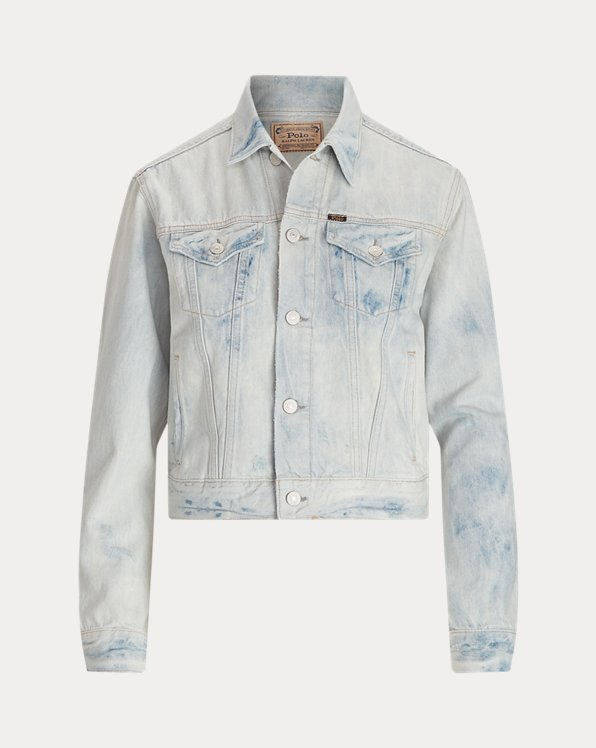 Bleached Denim Trucker Jacket