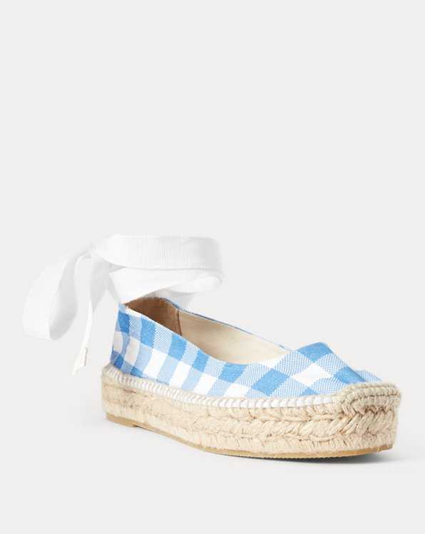 Canvas Gingham Espadrille